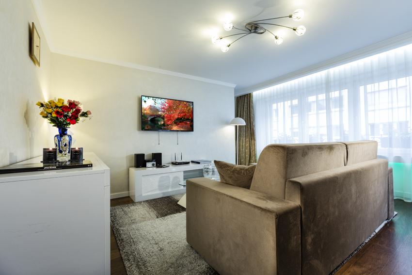 Living area at Villa Vinicia Apartments