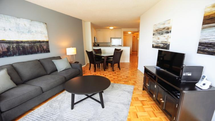 Living space at Liberty Towers Studio