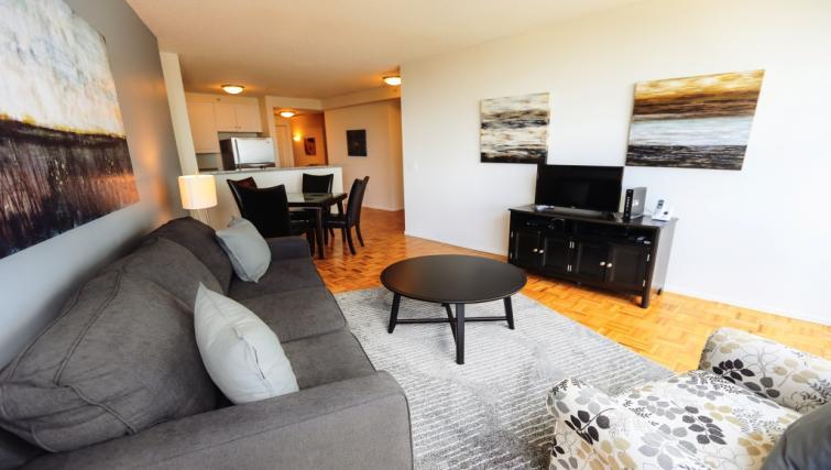 Living room at Liberty Towers Studio