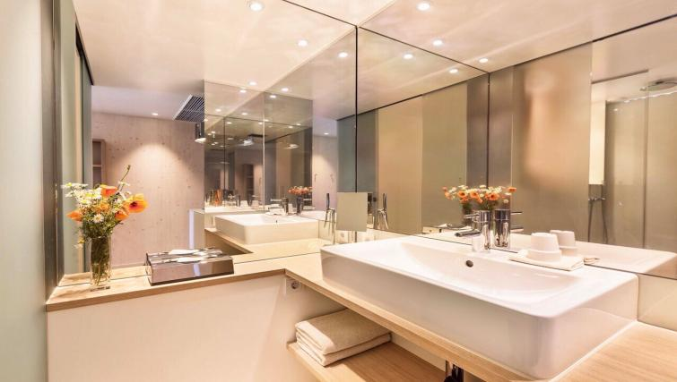 Bathroom in studio at Soulmade Apartments