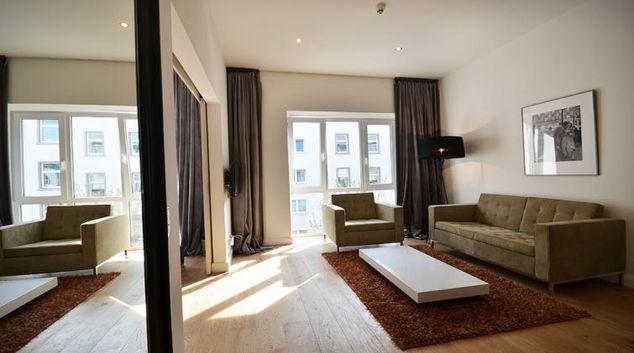 Living area at City Apartments Frankfurt
