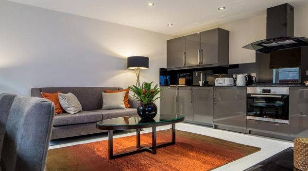 Living area at The Headrow Apartments