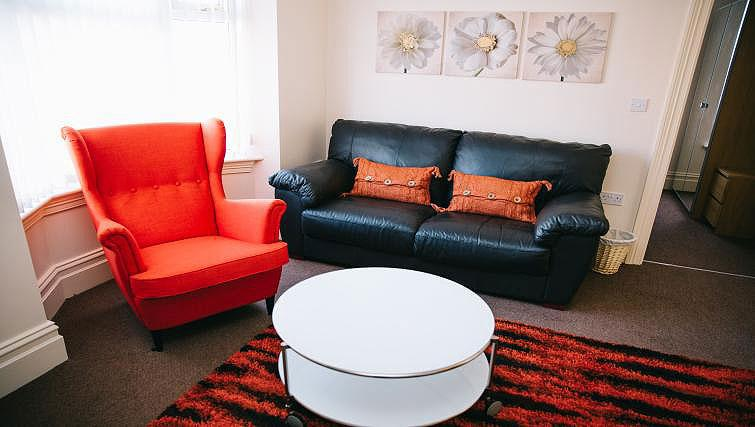 Living area at Brinkburn Serviced Apartments
