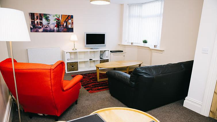 Bright living area at Brinkburn Serviced Apartments