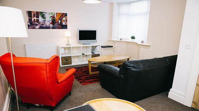 Bright living area at Brinkburn Serviced Apartments