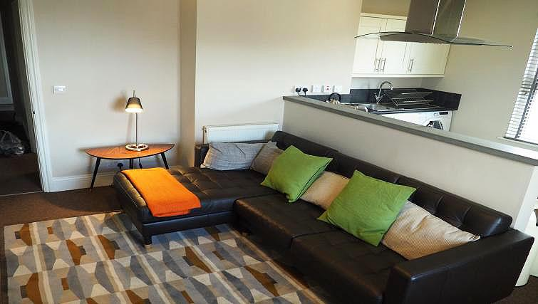 Living area at Raby Street Apartment