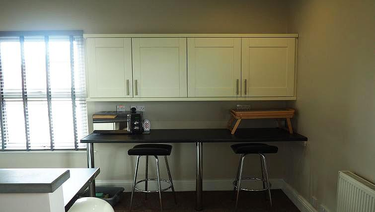 Kitchen area at Raby Street Apartment