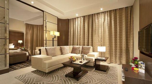 Living area at Oaks Liwa Executive Suites