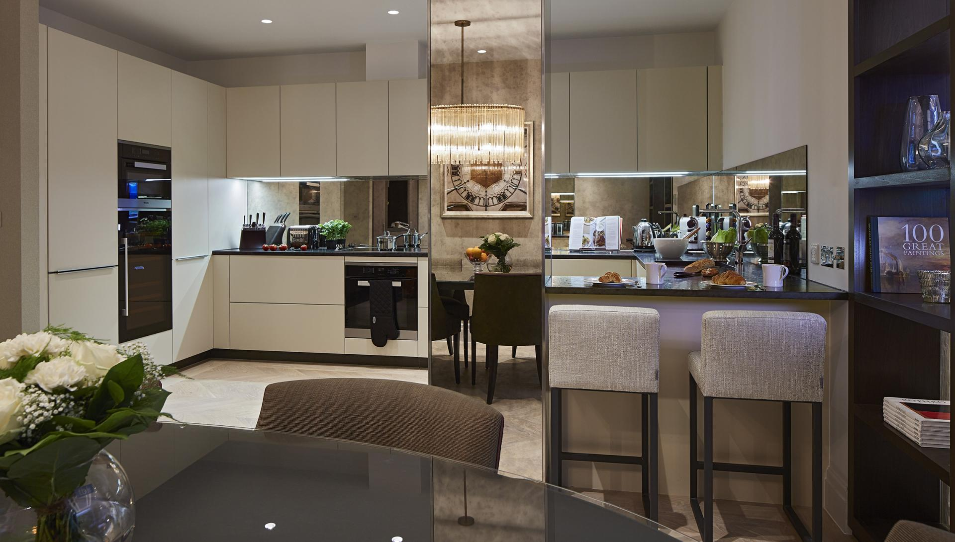 Kitchen/dining at Cheval Hyde Park Gate