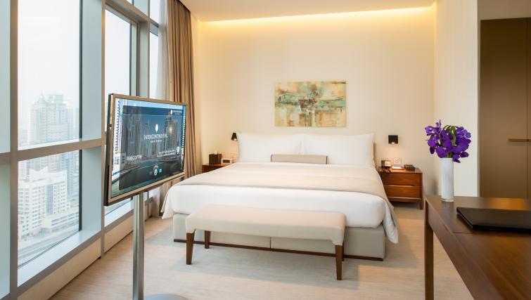 Bed at InterContinental Dubai Marina