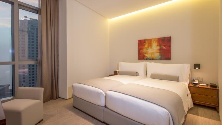 Double bed at InterContinental Dubai Marina