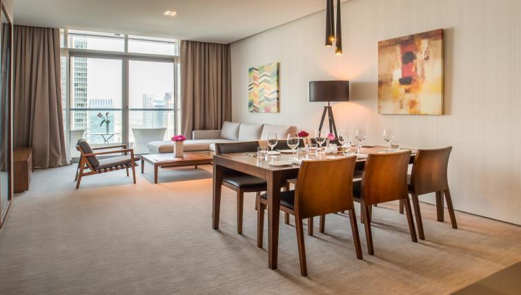 Dining table at InterContinental Dubai Marina