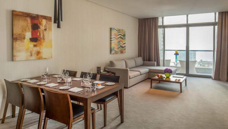 Table at InterContinental Dubai Marina