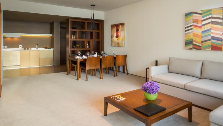 Living/dining area at InterContinental Dubai Marina
