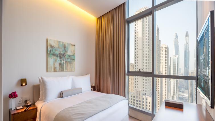 Bright bedroom at InterContinental Dubai Marina
