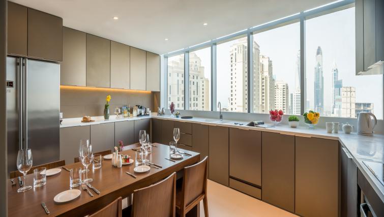 Ktichen/dining area at InterContinental Dubai Marina