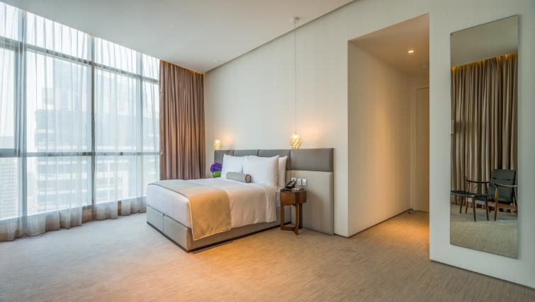 Spacious bedroom at InterContinental Dubai Marina