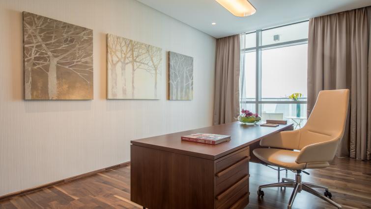 Desk at InterContinental Dubai Marina
