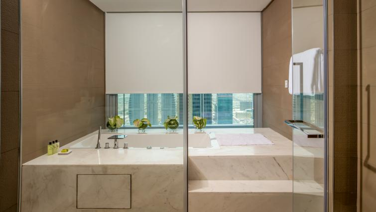 Luxury bathroom at InterContinental Dubai Marina