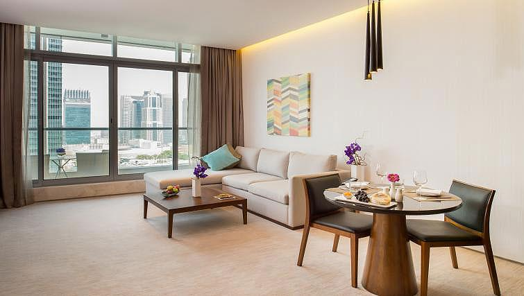 Living area at InterContinental Dubai Marina