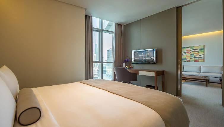 Bedroom at InterContinental Dubai Marina