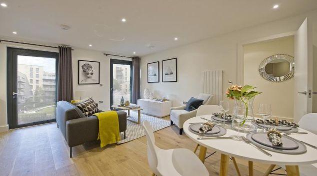Living area at Wembley Apartments