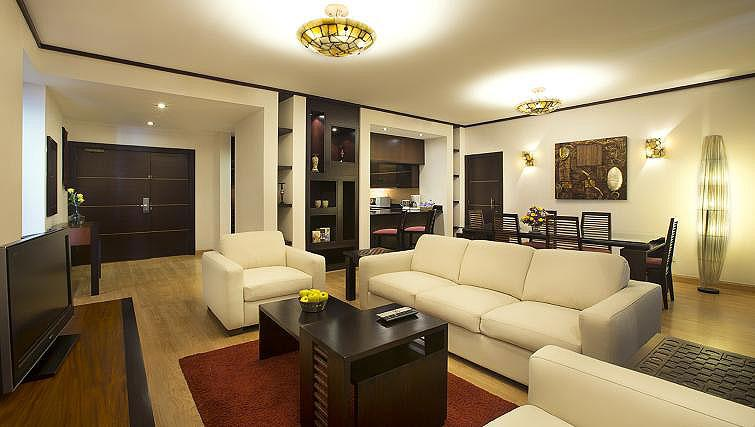 Living area at Park Hotel Apartments