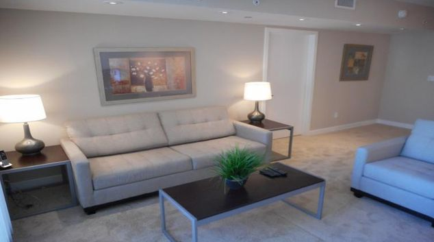 Living area at Newseum Residences