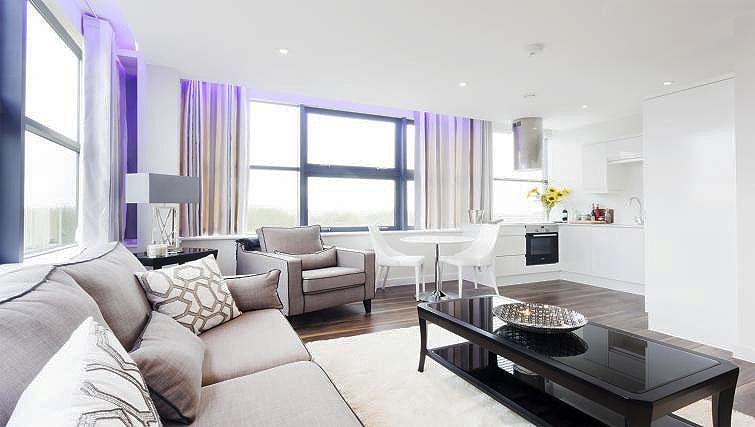Bright living area at City Stay Apartments Centro