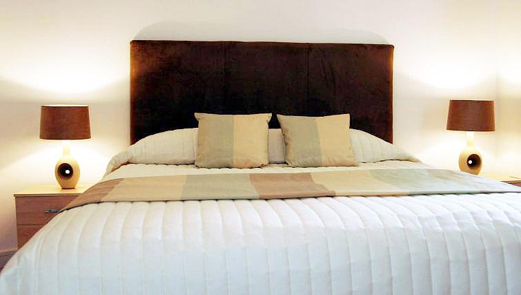 Bedroom at Printworks Apartment