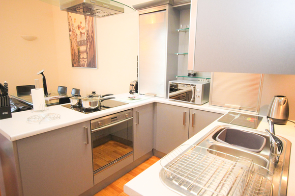 Kitchen facilities at Printworks Apartment