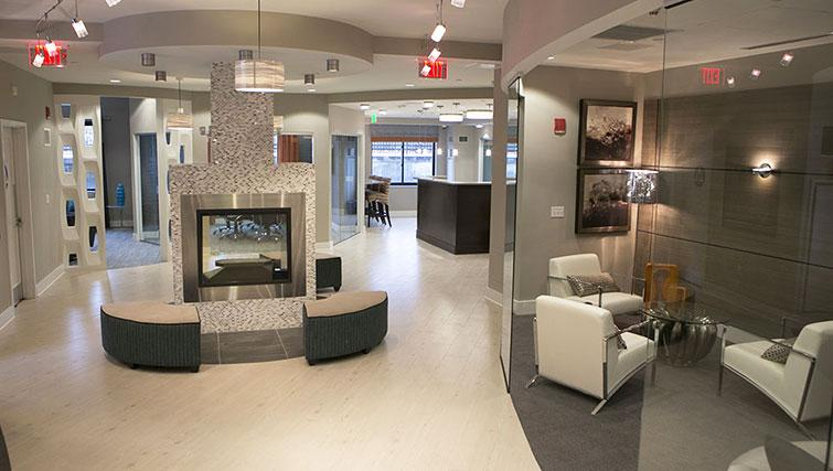 Lobby area at Bank Street Commons Apartments