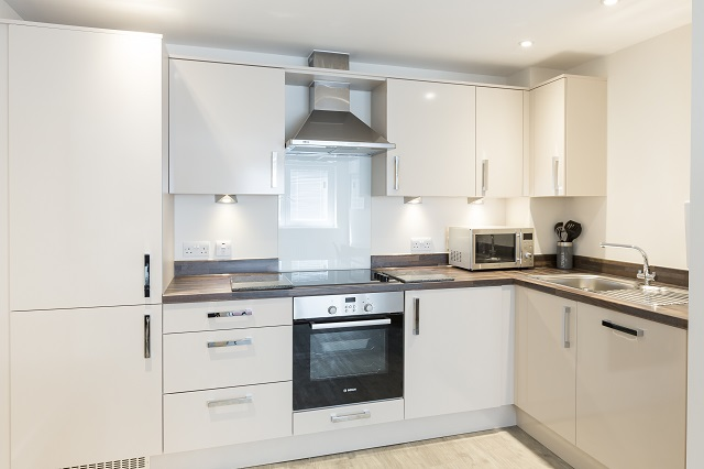 Kitchen facilities at Central Gate Apartments