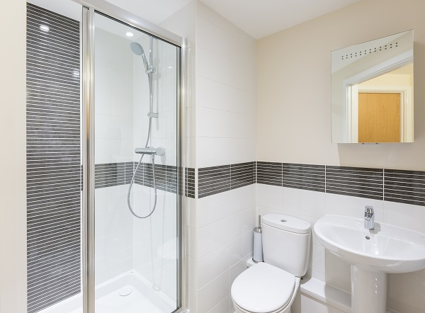 Shower at Central Gate Apartments
