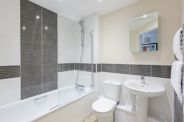 Bathroom at Central Gate Apartments