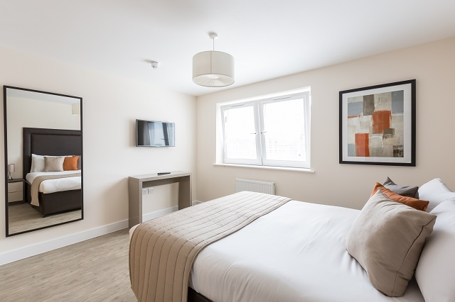 Bedroom at Central Gate Apartments