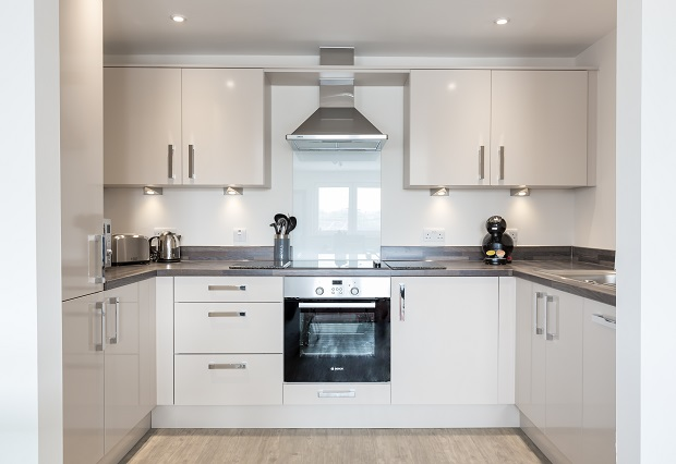 Kitchen at Central Gate Apartments
