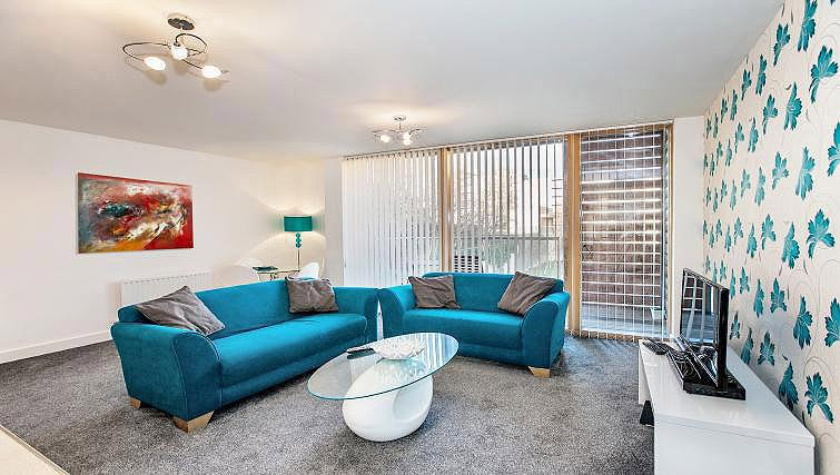 Living area at Vizion Milton Keynes Apartments