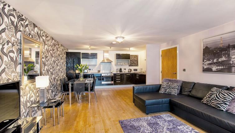 Stylish living area at Vizion Milton Keynes Apartments