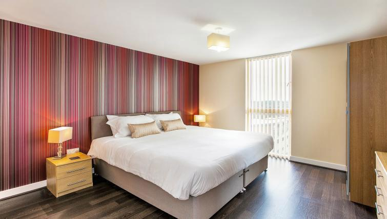 Double bedroom at Vizion Milton Keynes Apartments