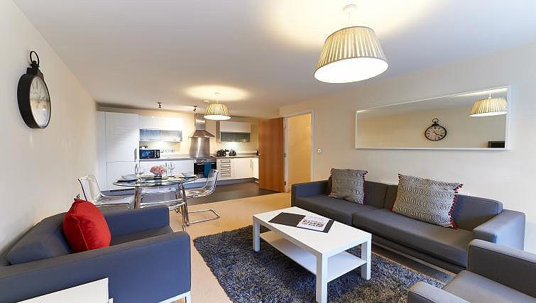 Lounge at Vizion Milton Keynes Apartments