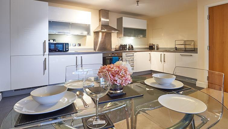 Dining area/kitchen at Vizion Milton Keynes Apartments