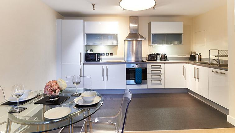 Kitchen/dining area at Vizion Milton Keynes Apartments