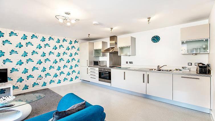 Kitchen at Vizion Milton Keynes Apartments