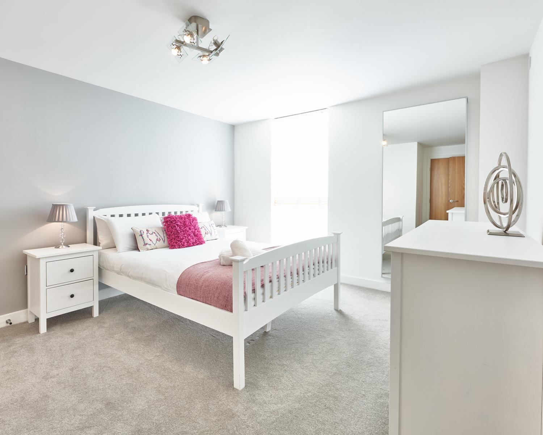 Bright bedroom at Vizion Milton Keynes Apartments, Centre, Milton Keynes