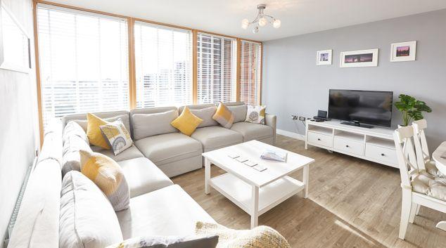 Bright living space at Vizion Milton Keynes Apartments, Centre, Milton Keynes