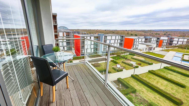 Balcony view from Vizion Milton Keynes Apartments, Centre, Milton Keynes