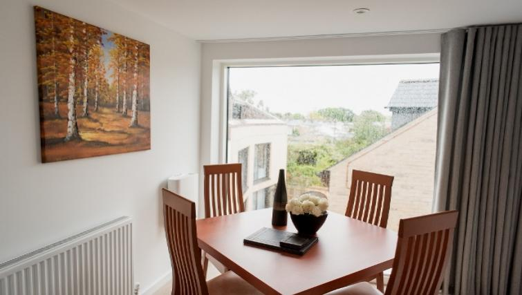 Dining area at Nelson Court Apartments