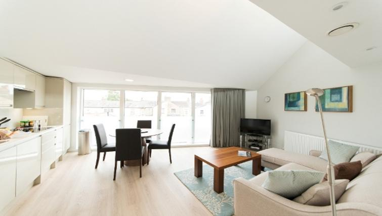 Living area at Nelson Court Apartments