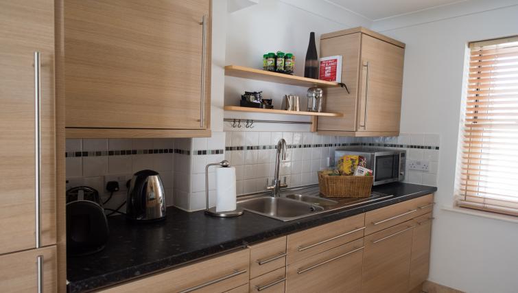Modern kitchen at Nelson Court Apartments